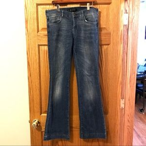 ZARA flare jeans, mid rise size 8